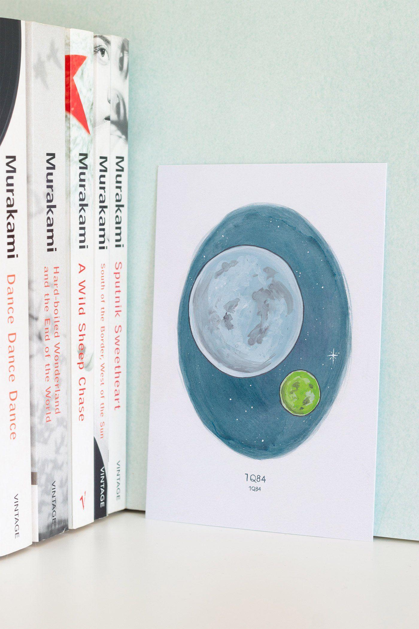 Haruki Murakami Watercolour Novel Illustration A6 Art Prints Art
