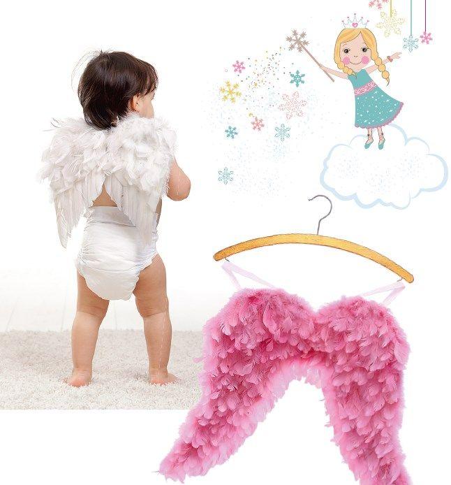 Наряд ангела для девочки: пачка и крылья