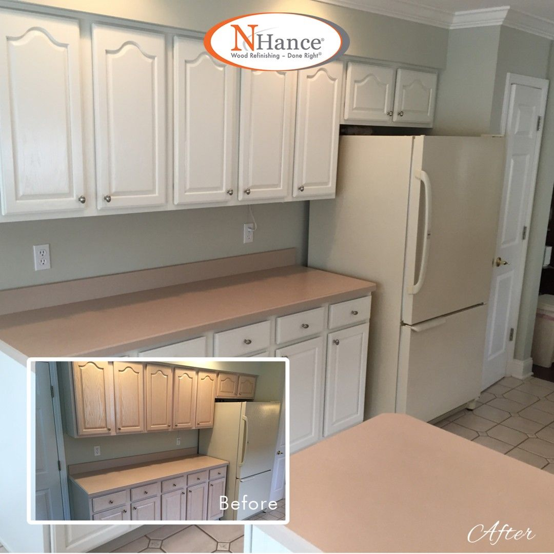 This Homeowner In The Lake Ridge Community In Tomsrivernj Needed To Get Rid Of The Pickled Whitewash In 2020 Refinishing Cabinets Whitewash Cabinets Wood Refinishing