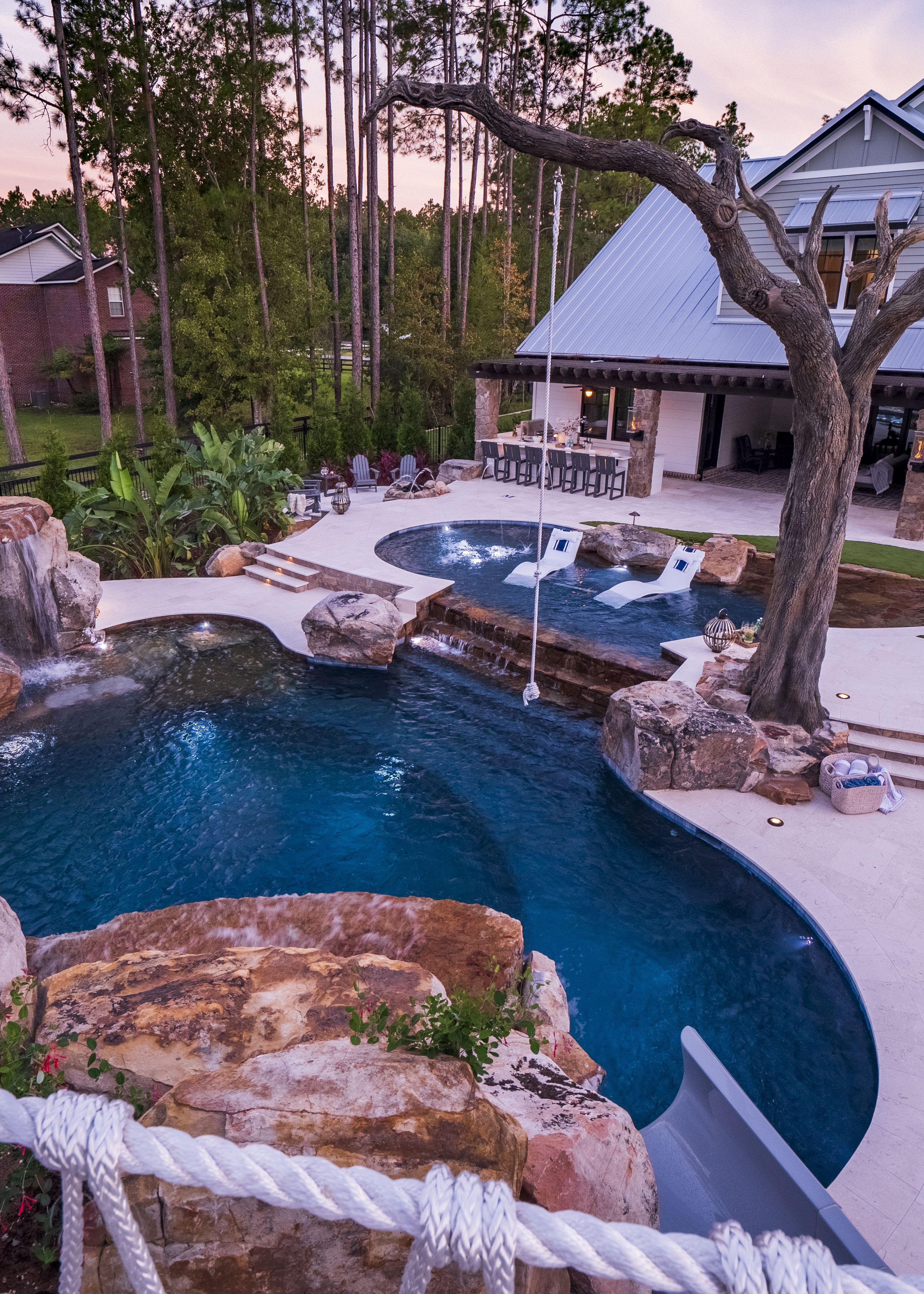 10 Dreamy Pools To Inspire Your Next Backyard Renovation Pratt Guys Dream Patio Pools Backyard Inground Backyard Renovations