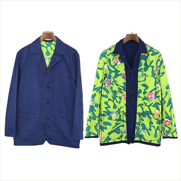 1638d05b5095 ISSEY MIYAKE MEN 2000S S TAKASHI MURAKAMI Coverall Jacket Mens Navy ...
