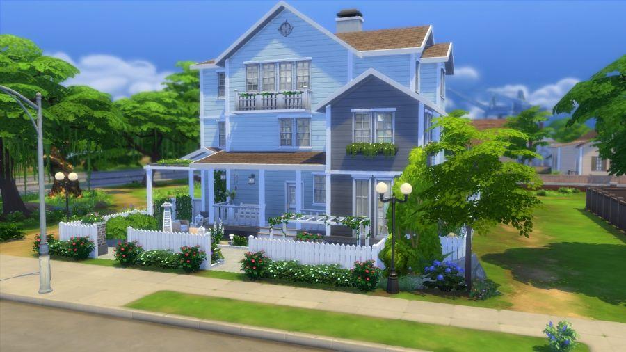 Sims 4 t l chargement maison familiale f te des p res sims 4 terrains r sidentiels sans for Maison prefabriquee sims 4