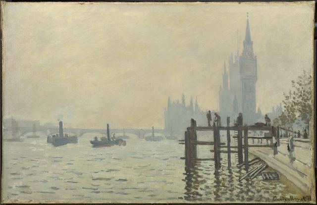 Claude Monet, 'The Thames below Westminster,' about 1871, The National Gallery, London