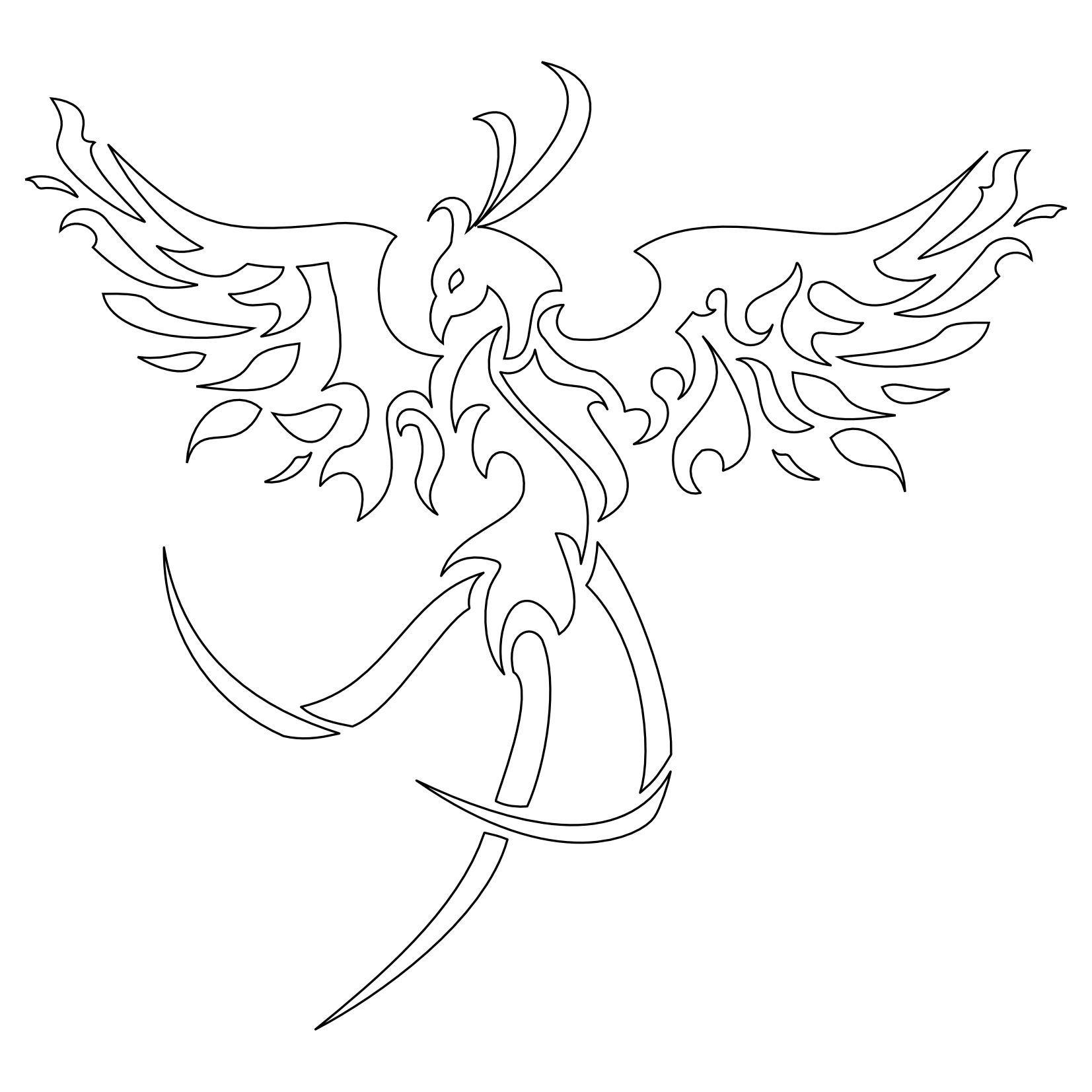Tatuaggio Di Fenice Tribale,Eternità Tattoo