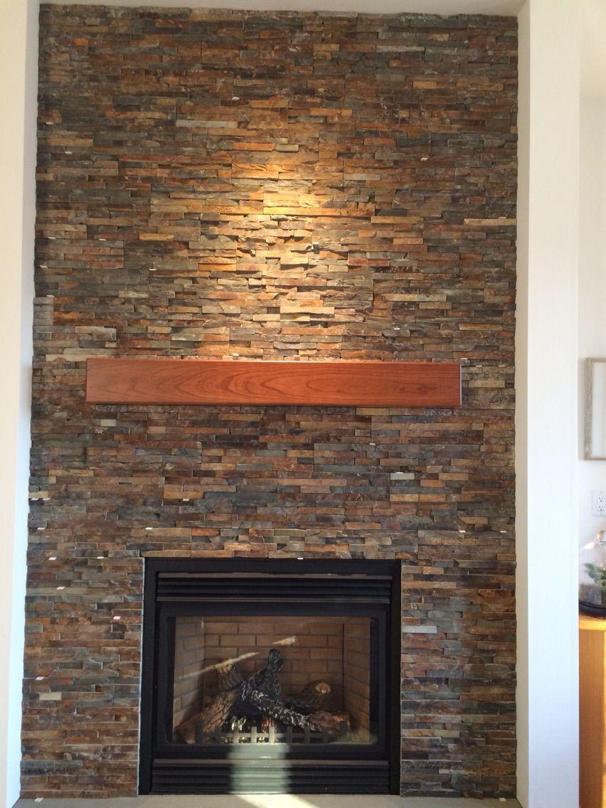 Custom made cherry modern beam fireplace mantel fireplace