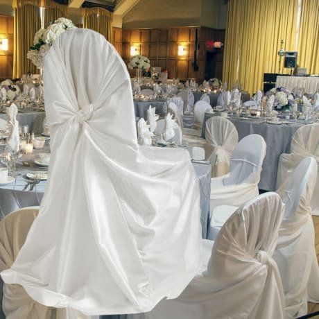 Admirable Springrose 50 White Satin Universal Chair Covers You Can Caraccident5 Cool Chair Designs And Ideas Caraccident5Info
