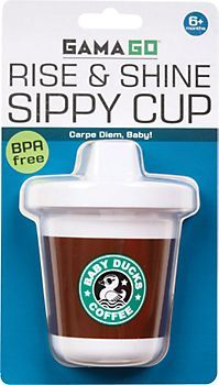 38118e433 Rise And Shine Sippy Cup that looks like Starbucks Mommy & baby can match!