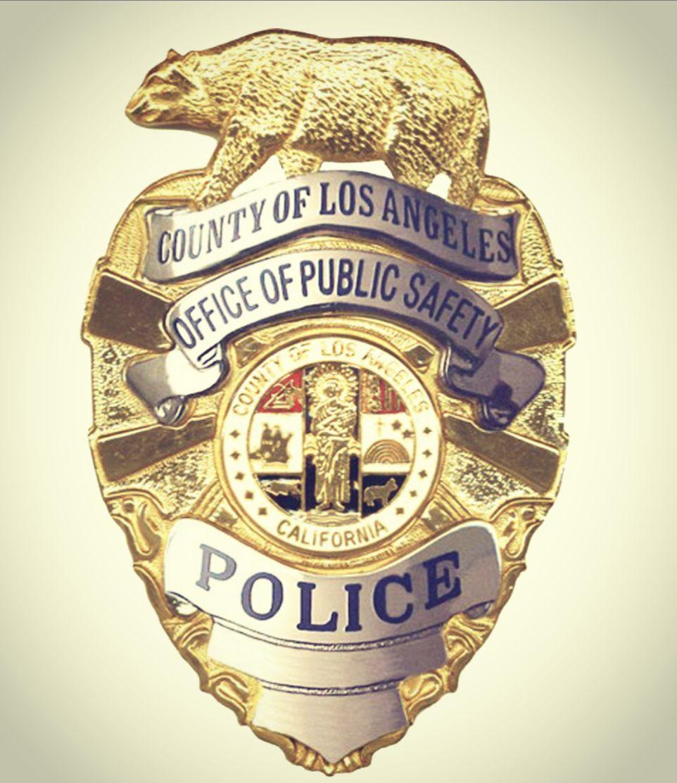 Placa De Policia Del Condado De Los Angeles California In 2020 Law Enforcement Badges Law Enforcement Insignia
