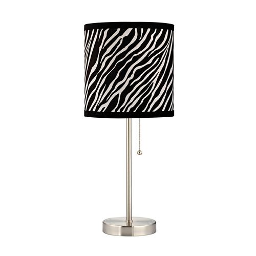 Table Lamp With Zebra Drum Shade