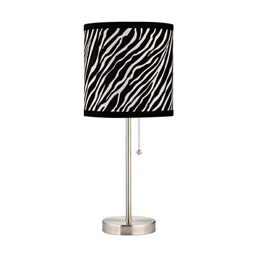 Zebra Print Pauz Table Lamp With Images Lamp Table Lamp