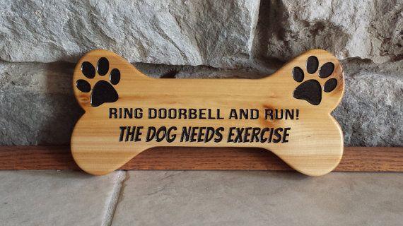 Dog Bone Ring Doorbell And Run Ring Doorbell Dogs Wood