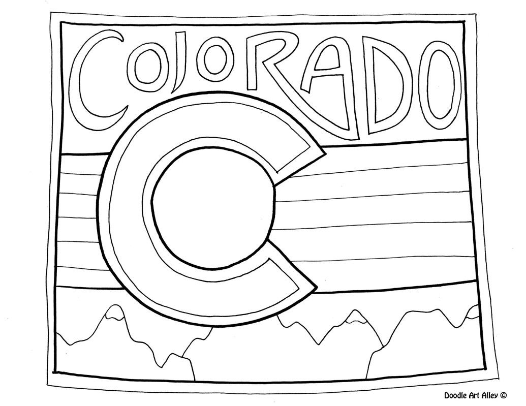 Colorado Coloring Page By Doodle Art Alley Coloring Pages