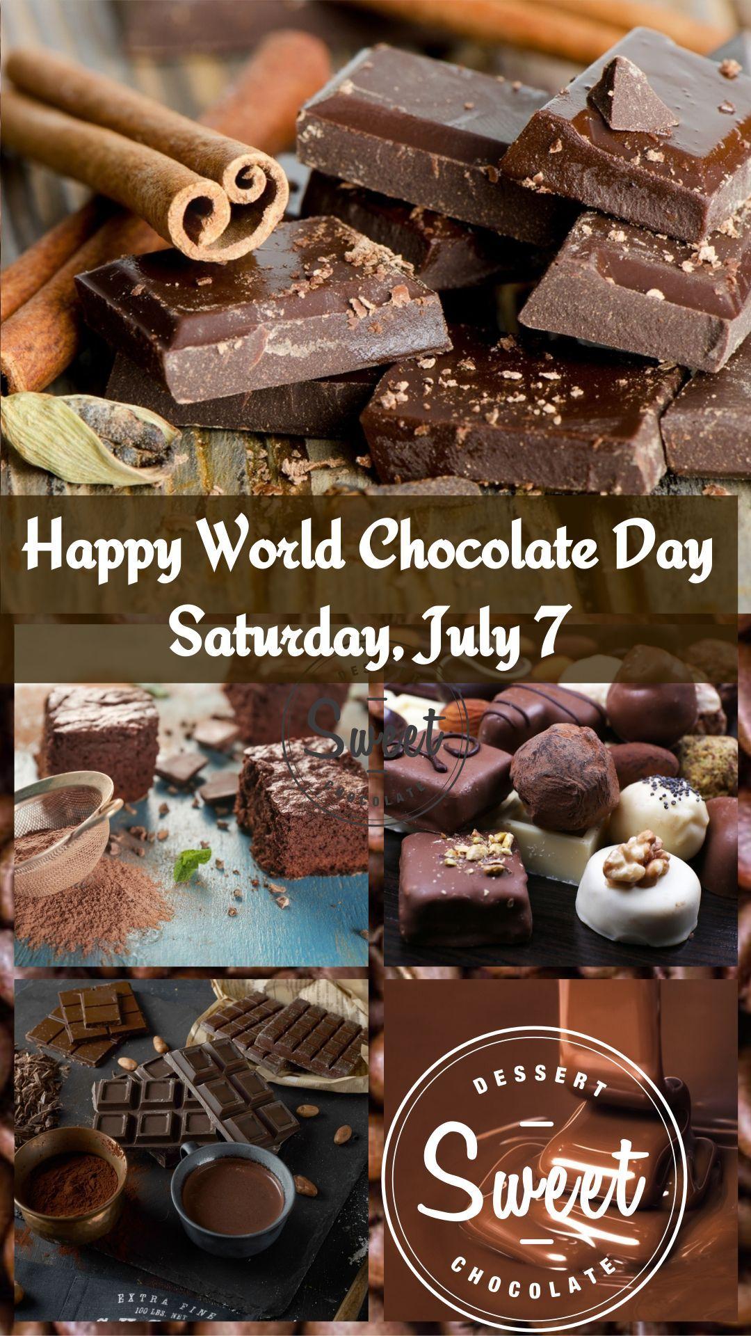 Celebrate World Chocolate Day July 7 Fun Chocolate Facts Chocolate Day Fruit Birthday Cake Chocolate
