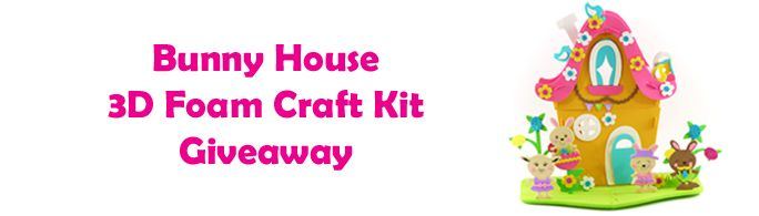 Creatology Bunny House 3D Foam Craft Kit Giveaway