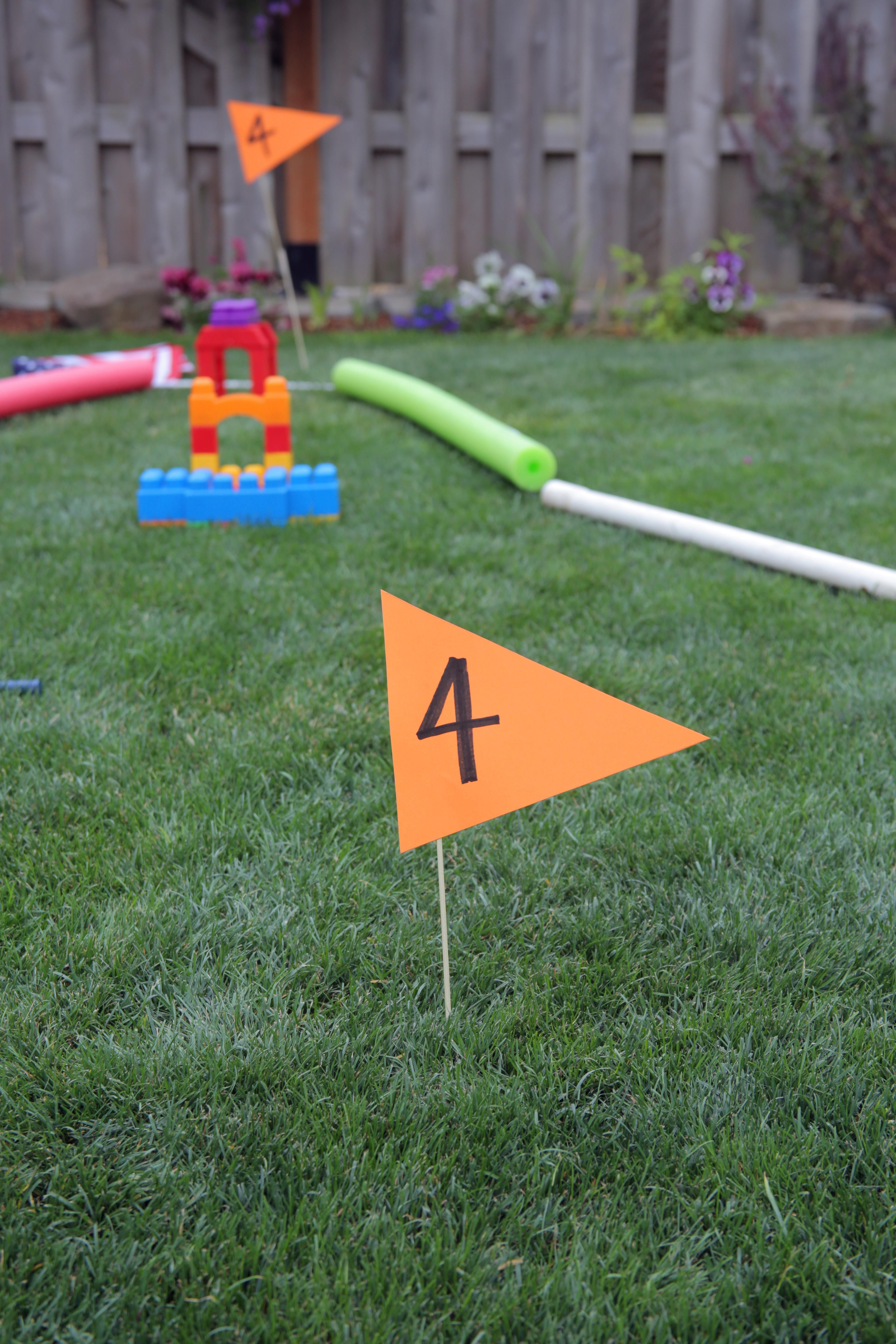 DIY Mini Golf course in the backyard