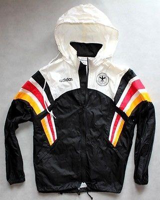 uk availability 9ca12 ebbd9 Vintage-Adidas-Germany-Football-Team-Windbreaker-Rain-Jacket-90S-MAN-SIZE-XL