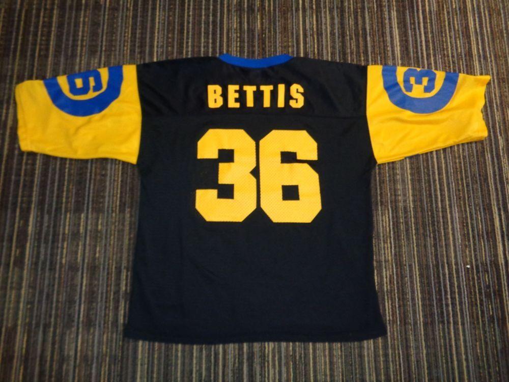 JEROME BETTIS  36 ST. LOUIS LA LOS ANGELES RAMS STARTER BLACK NFL GAME  JERSEY 79ad8b2b7