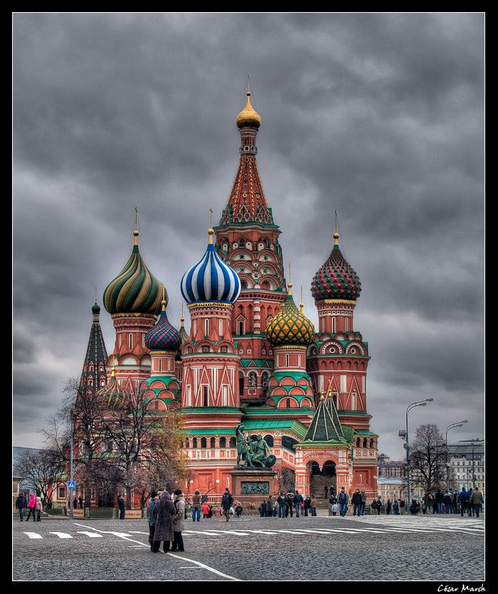 Saint Basil's Cathedral in Moscow :-)
