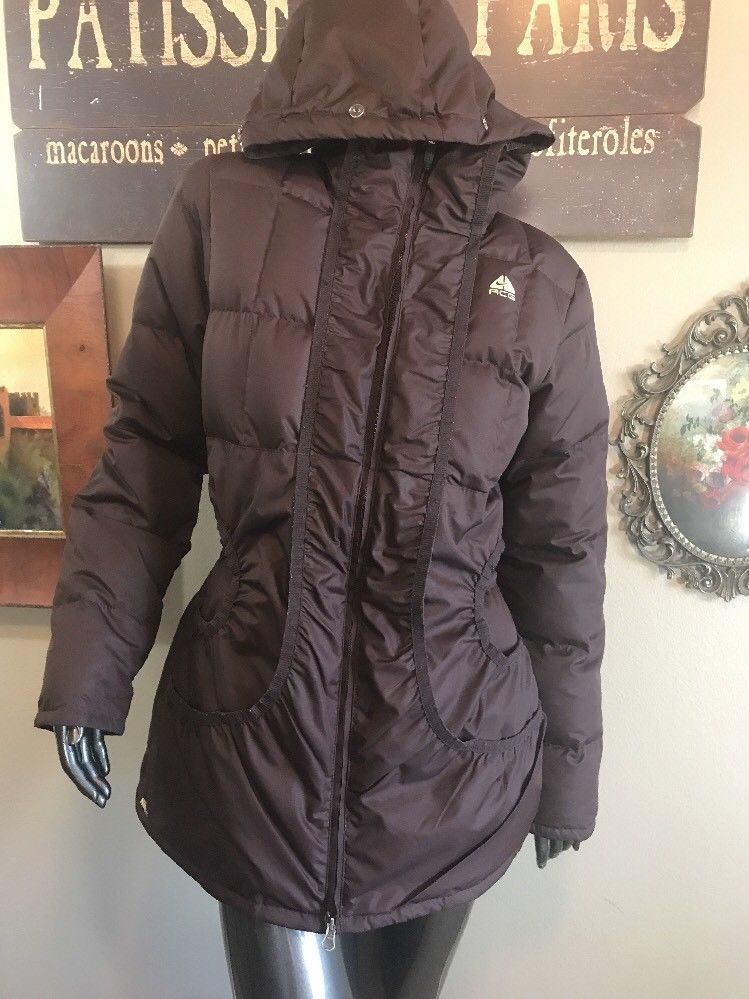 f9e0cd3f5e21 Nike ACG Storm Fit Long Brown Down 550 Winter Jacket Coat Warm Everyday  Casual