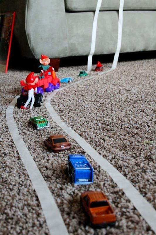 not for the elf on the shelf- use just to play! make roads with masking tape