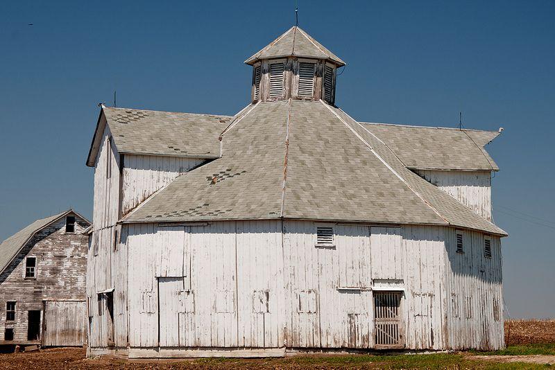 *Octagonal Barn John Furhrken Barn, erected around 1915. Located near Denton, Kansas! ... #Barn #Mills #Farms #Design