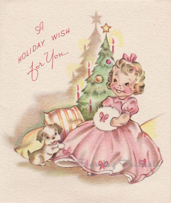Vintage Grinnell Unused Christmas Card Hoop by StarvingPackrats, $4.99