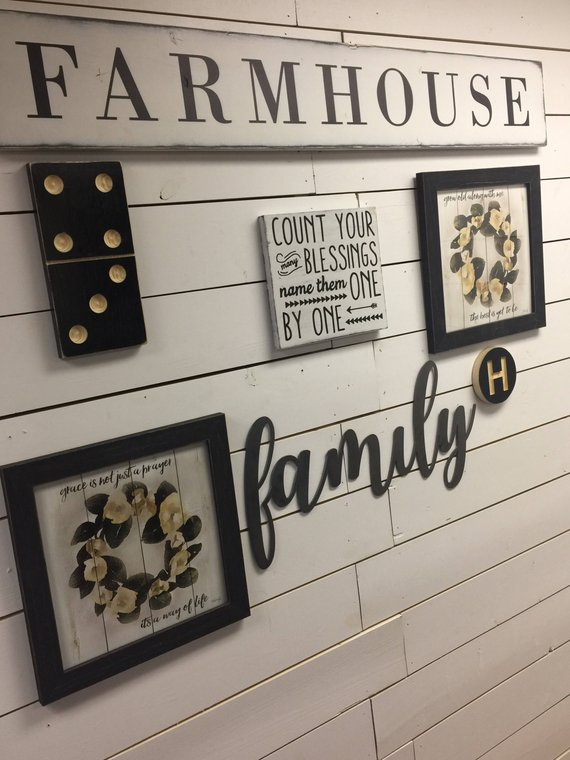 Domino Sign Gallery Wall Decor Custom Sign Family Sign