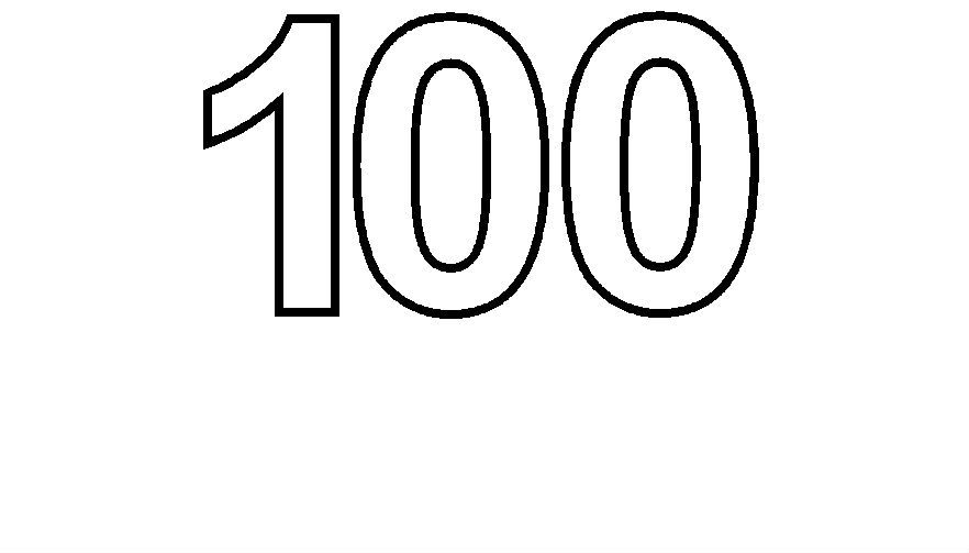 Simple Numbers One Hundred Coloring Pages For Kids Ehu Printable Simple Numbers Coloring Pages For Kids