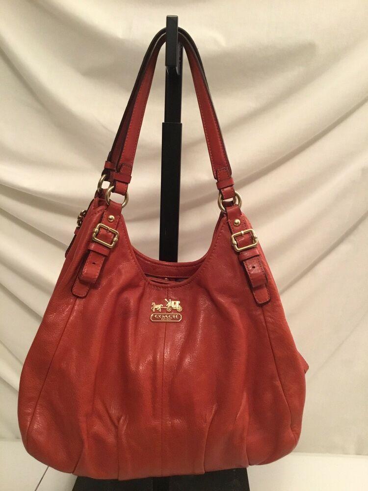 325184d613f57 Coach L Madison Leather Maggie Satchel Shoulder Handbag Hobo Purse 16503 # Coach #ShoulderSatchelhandbag