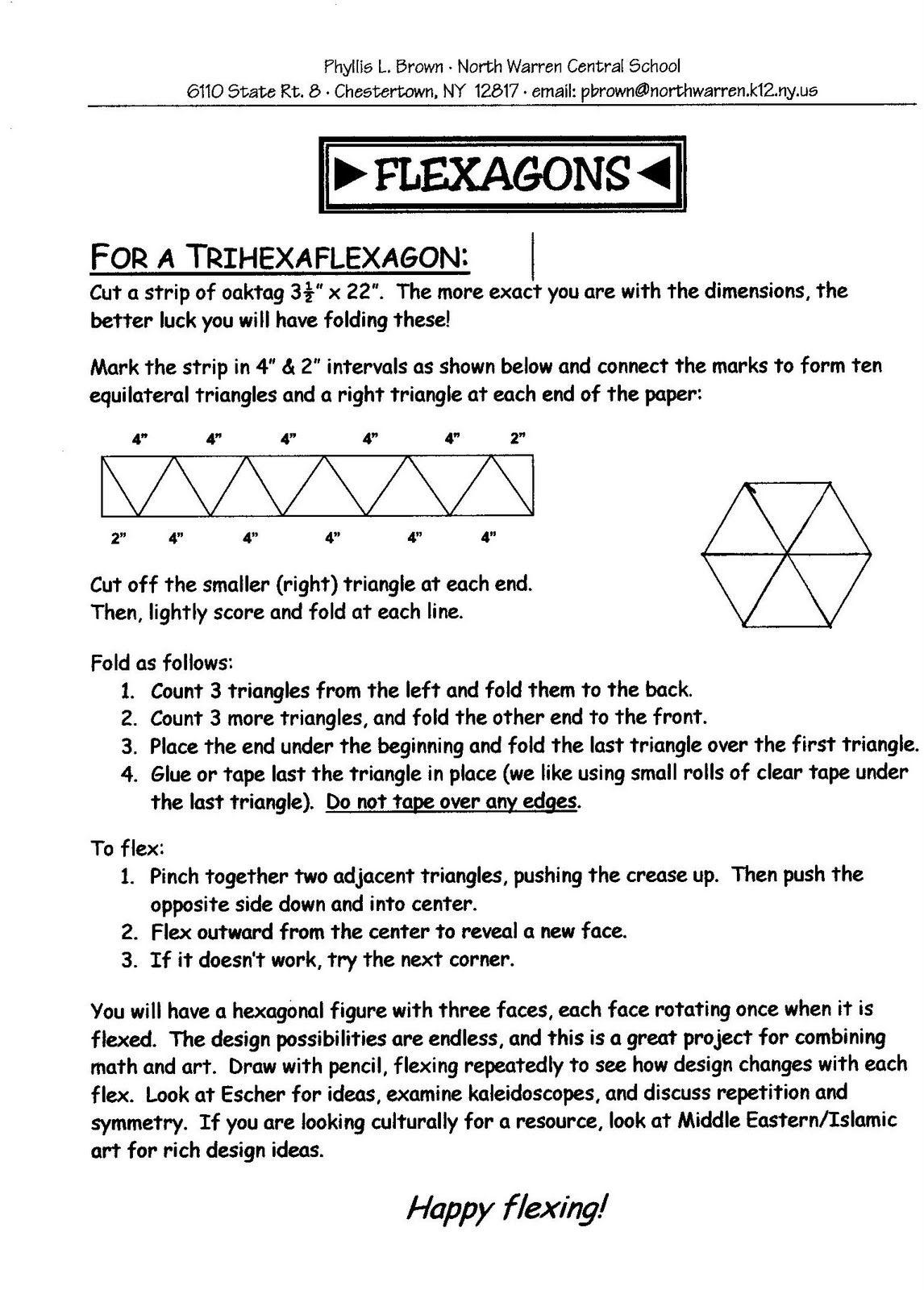 The Amazing Trihexaflexagon