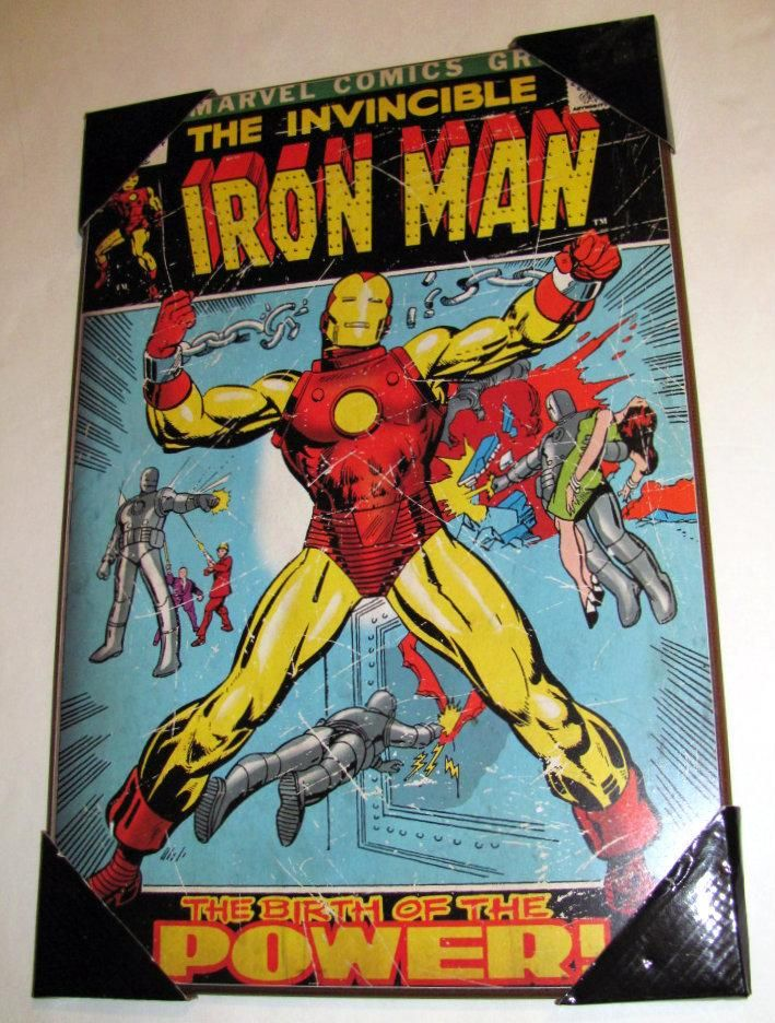 Marvel Wall Art 1 new marvel comics wall art plaque the invincible iron man # 47