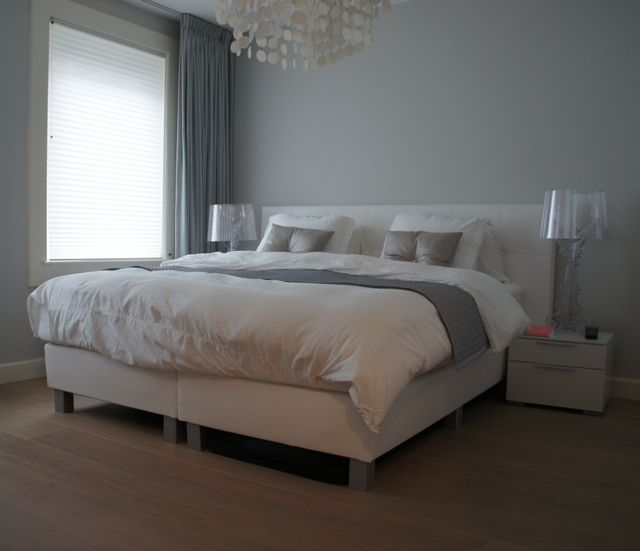 White Gray Bedroom For Master In New House Add Orange