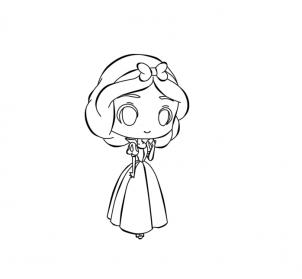 Как рисовать чиби принцессу