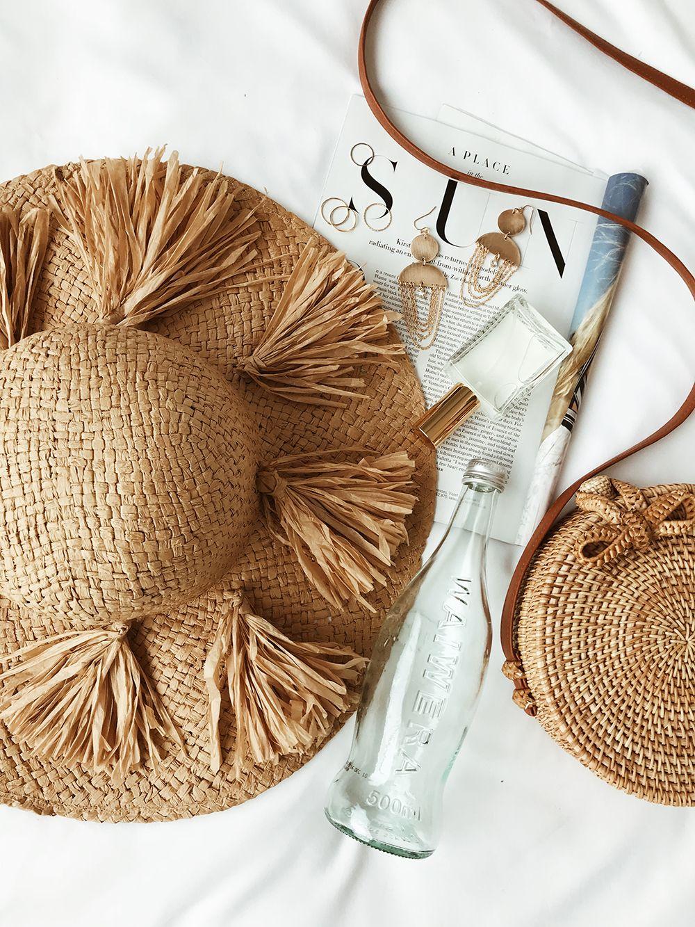 be020267 #lovelulus Summer Flats, Summer Accessories, Floppy Straw Hat, Straw Hats,  Straw