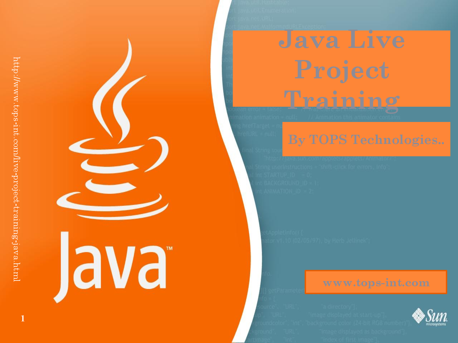 Get the real time experience of working on Java development projects