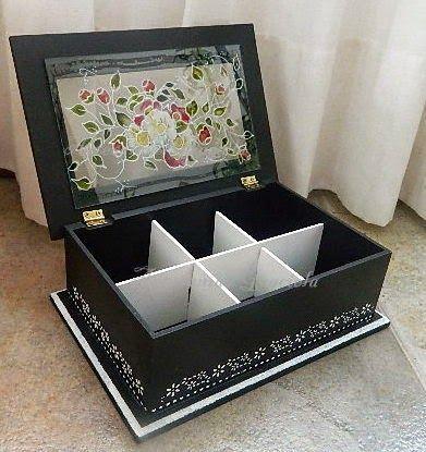 Artesan as graciela cajas de t ideas sachets cajas - Cajas decoradas a mano ...
