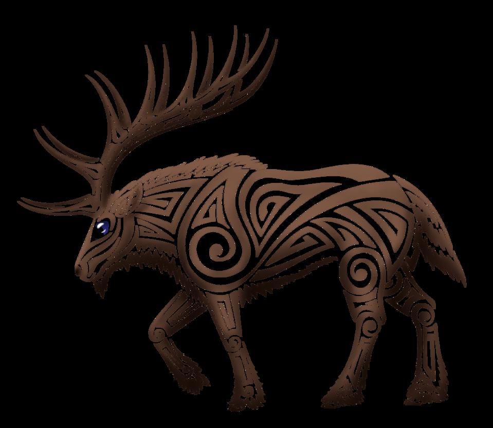 Tribal Elk Tattoo Designs Tribal Elk By Kayosa Tribal Animal Tattoos Elk Tattoo Celtic Art