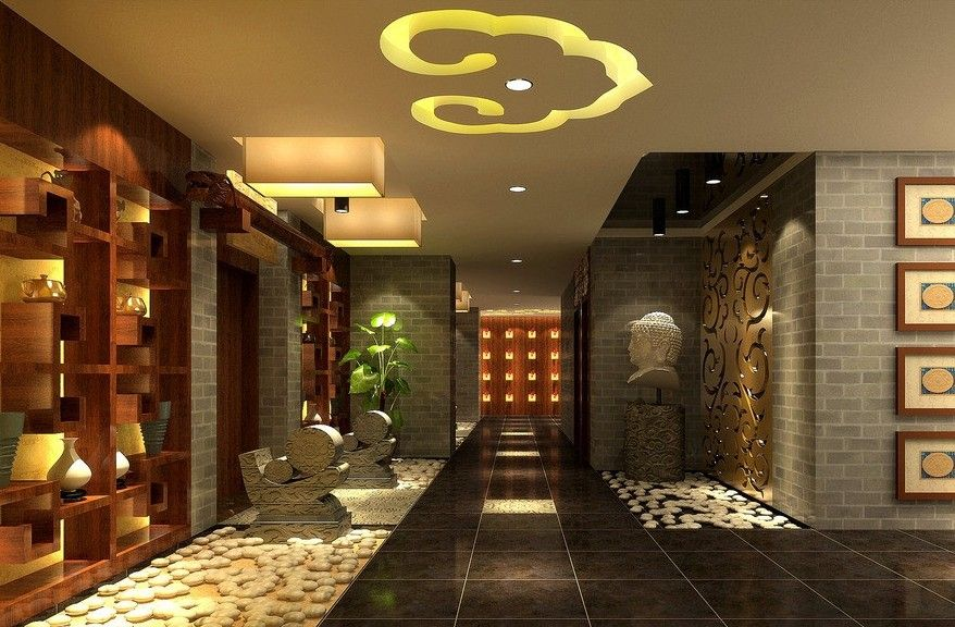 Superb Tea Room Design Ideas Part - 12: CHINESE STYLE INTERIORS | Chinese Style Tea Shop Interior Design Rendering  | Download 3D House