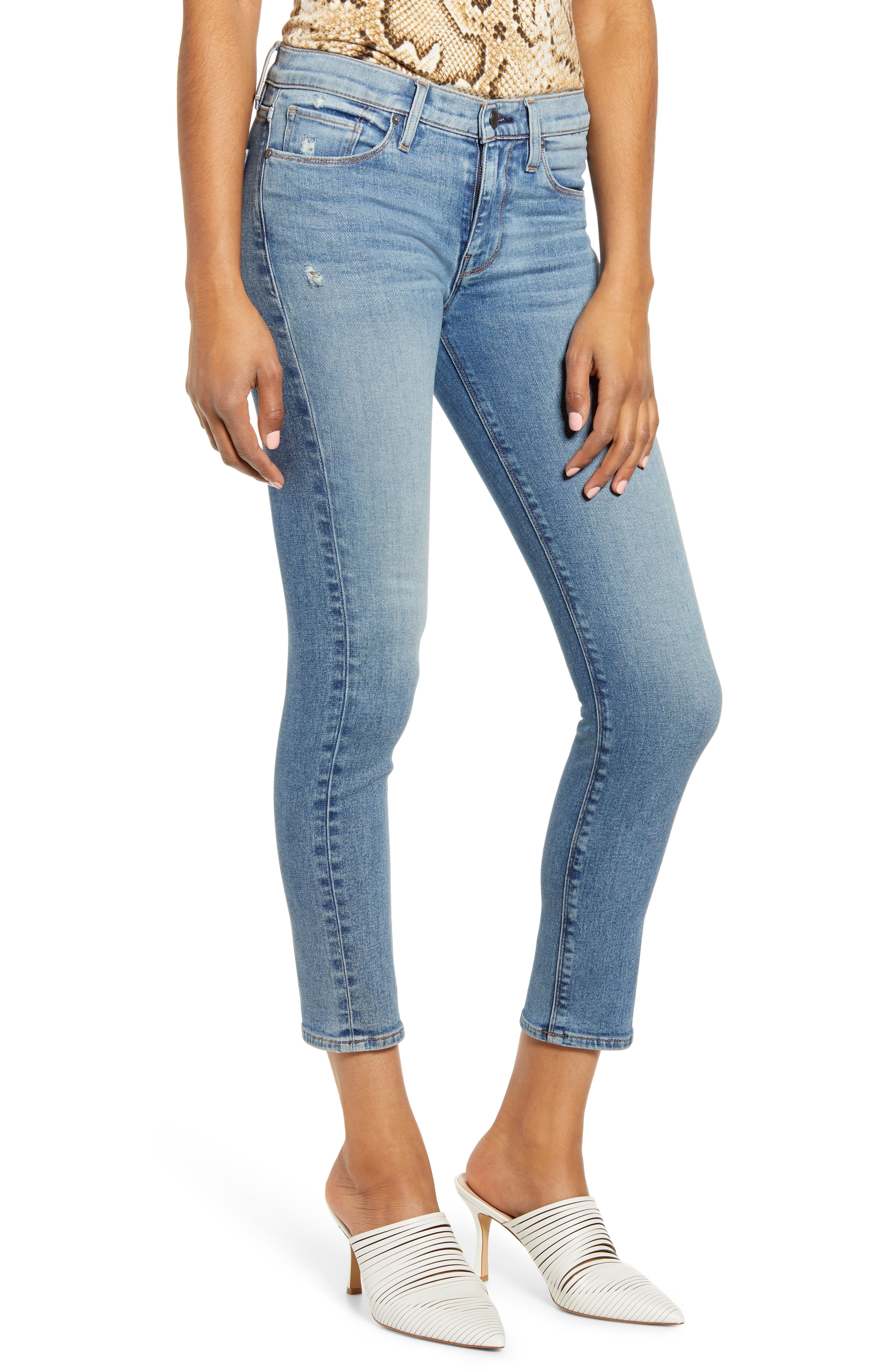 Hudson Jeans Womens Tally Crop Skinny Jeans