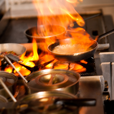 how to put out a grease fire out