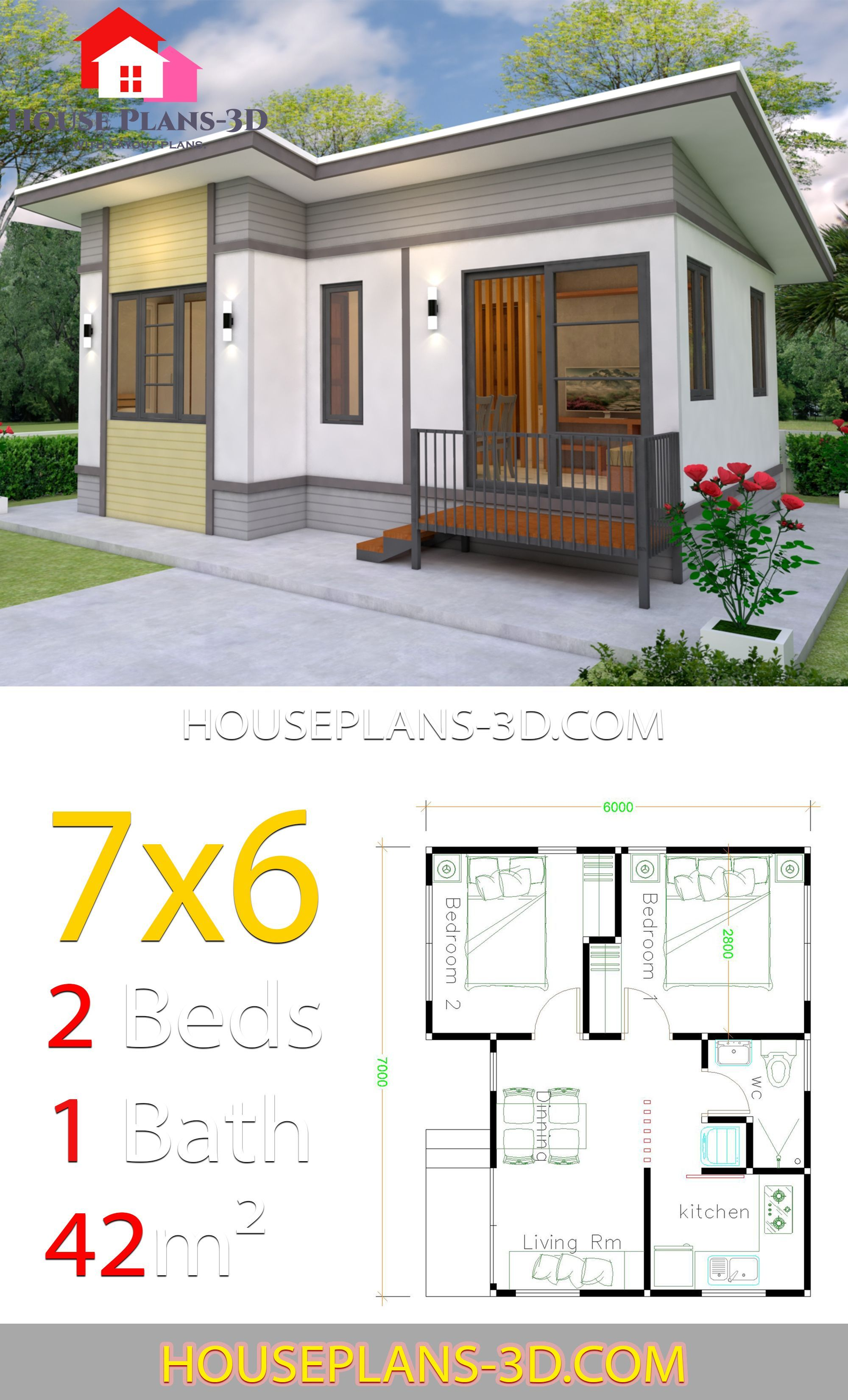 Small House Plans 7x6 With 2 Bedrooms House Plans 3d 483996291206312934 House Plans Small House Floor Plans My House Plans