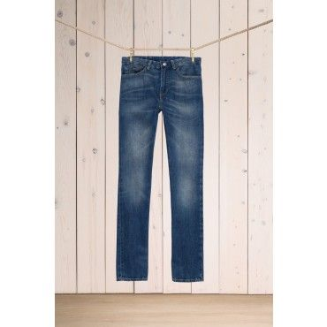 Levis Made And Crafted Tack Slim Stomry Sea Blue Selvedge Jeans