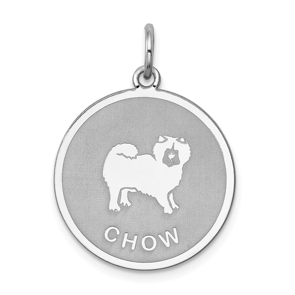 Sterling Silver Laser Etched Chow Dog Pendant 19mm In 2018