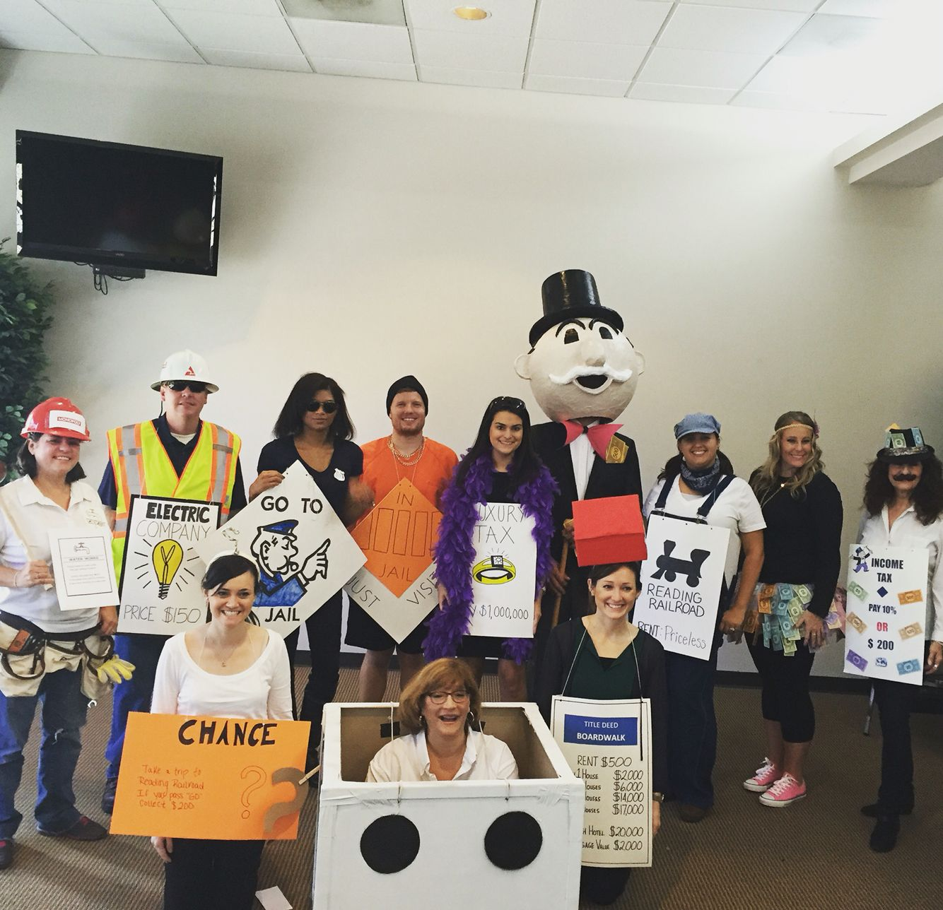 Monopoly costumes for the whole sales team! in 2019