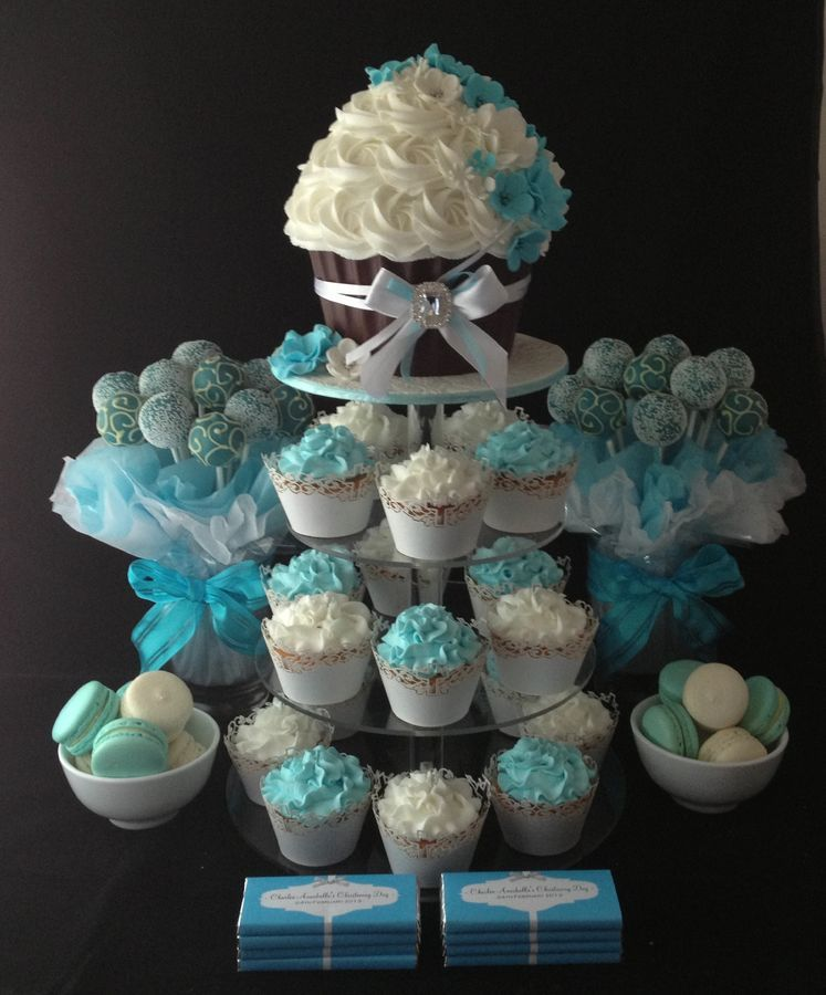 Cake Pop Centerpieces For Baptism : Baptism Cake   First Communion Cupcake Towers ...