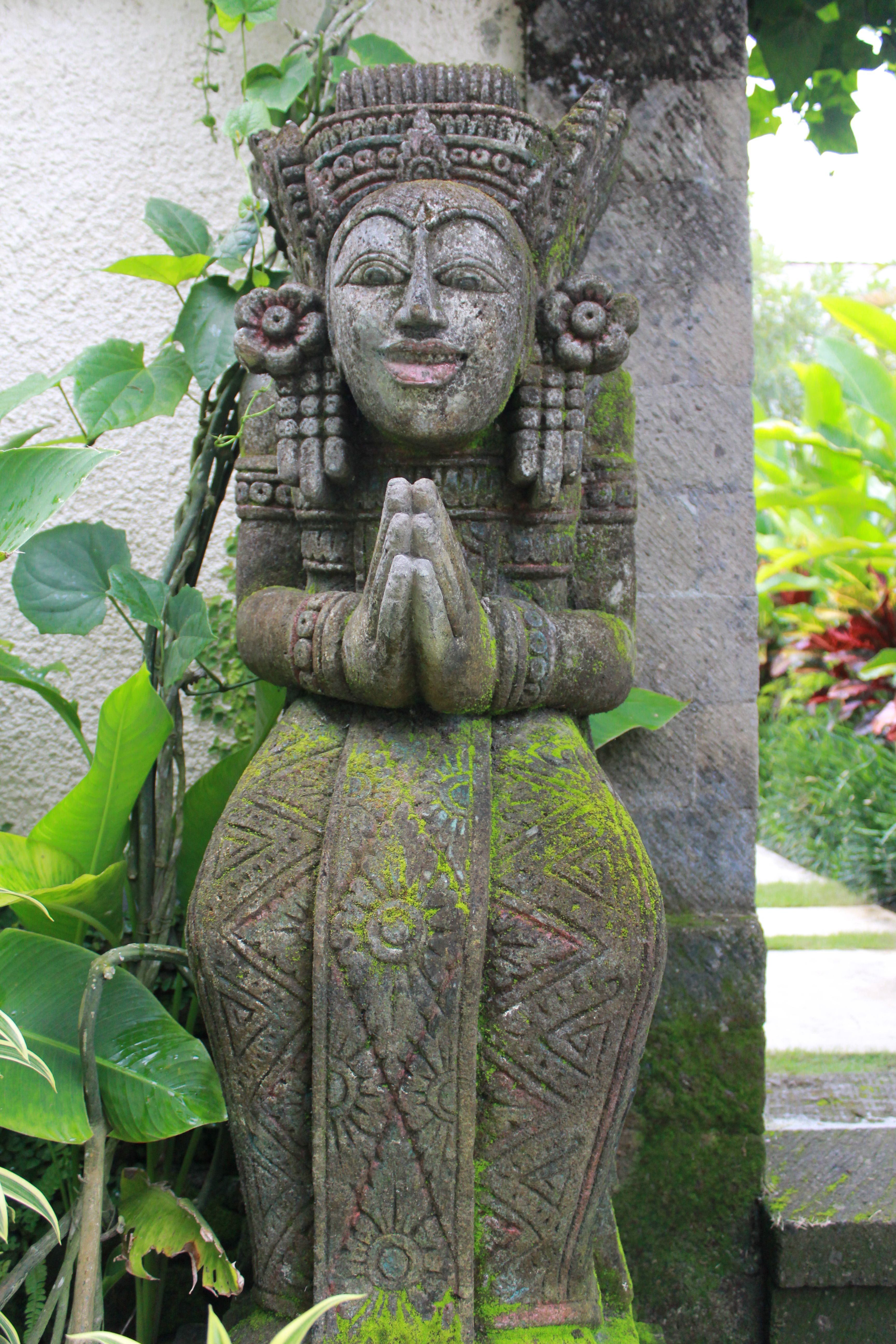 balinese statue as a symbol of guard who will protect from devil ...