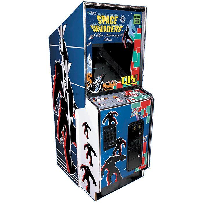 Various retro arcade machines placed around the store