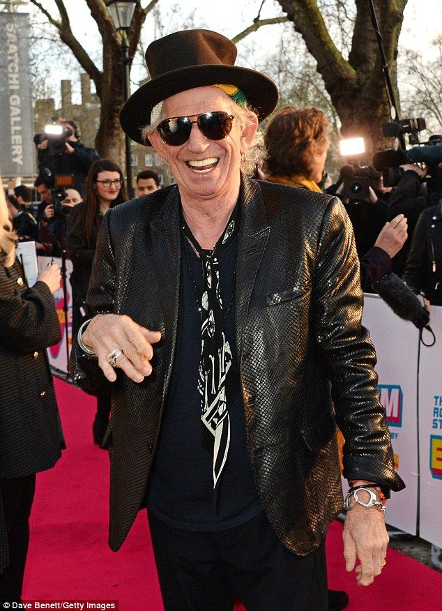 Owning up: Keith Richards has revealed the secret behind his colourful wardrobe – he is a cross dresser