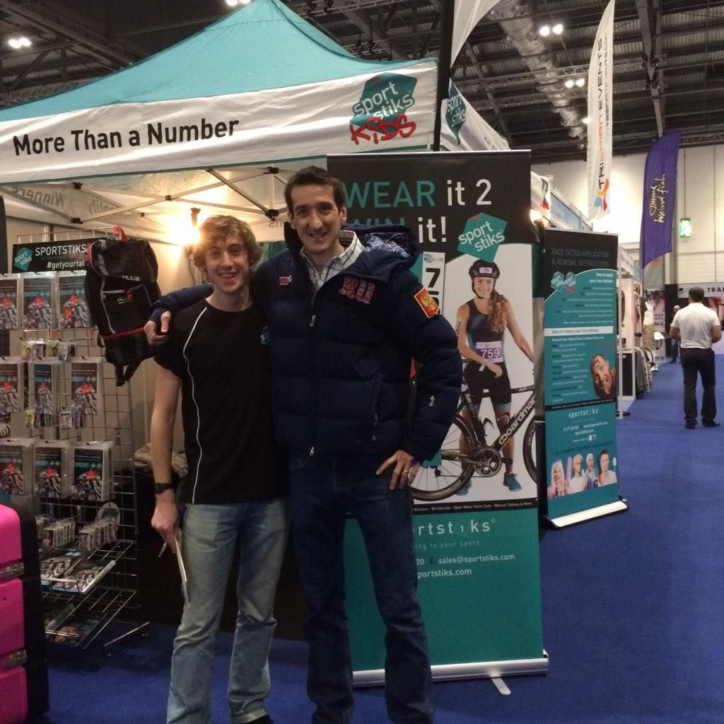 Nice early visitor to the Sportstiks stand! Channel 4's @robwalkertv #nicechap
