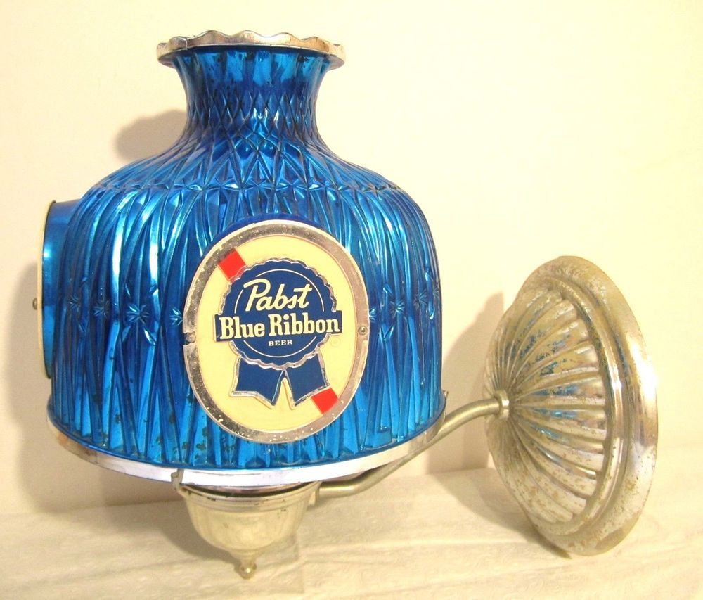 Vintage pabst blue ribbon wall sconce blue plastic shade pbr beer vintage pabst blue ribbon wall sconce blue plastic shade pbr beer bar light pabstblueribbon mozeypictures Images
